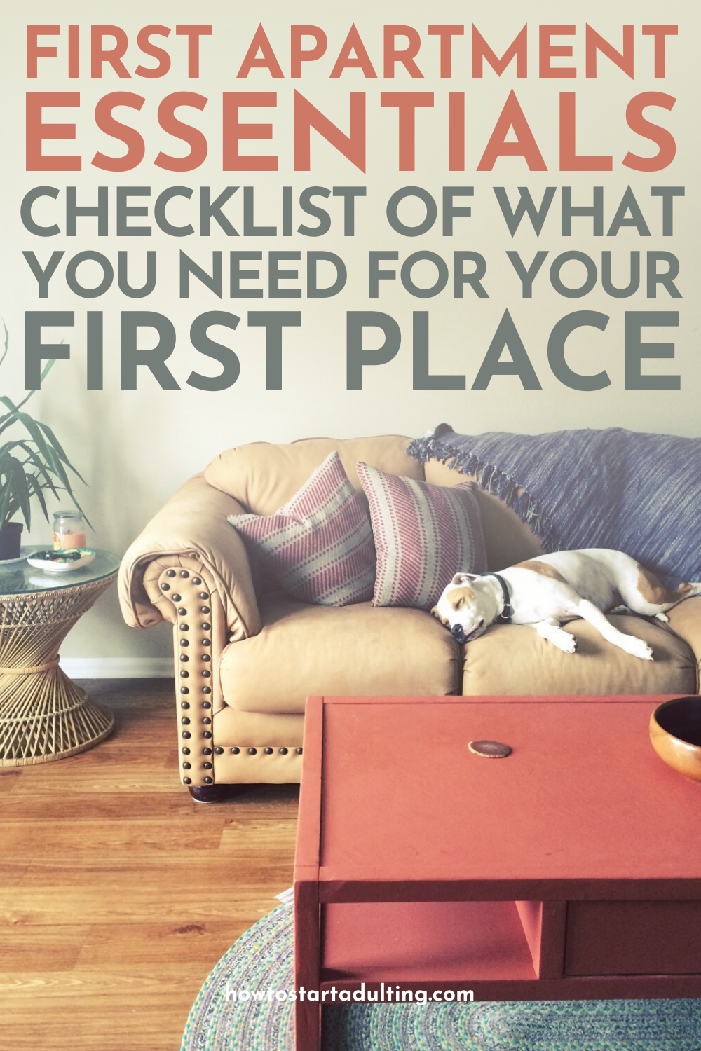 First Apartment Essentials Checklist_ What You Need To Buy For Your First Place #adulting #firstplace #firstapartment #movingin #movingchecklist