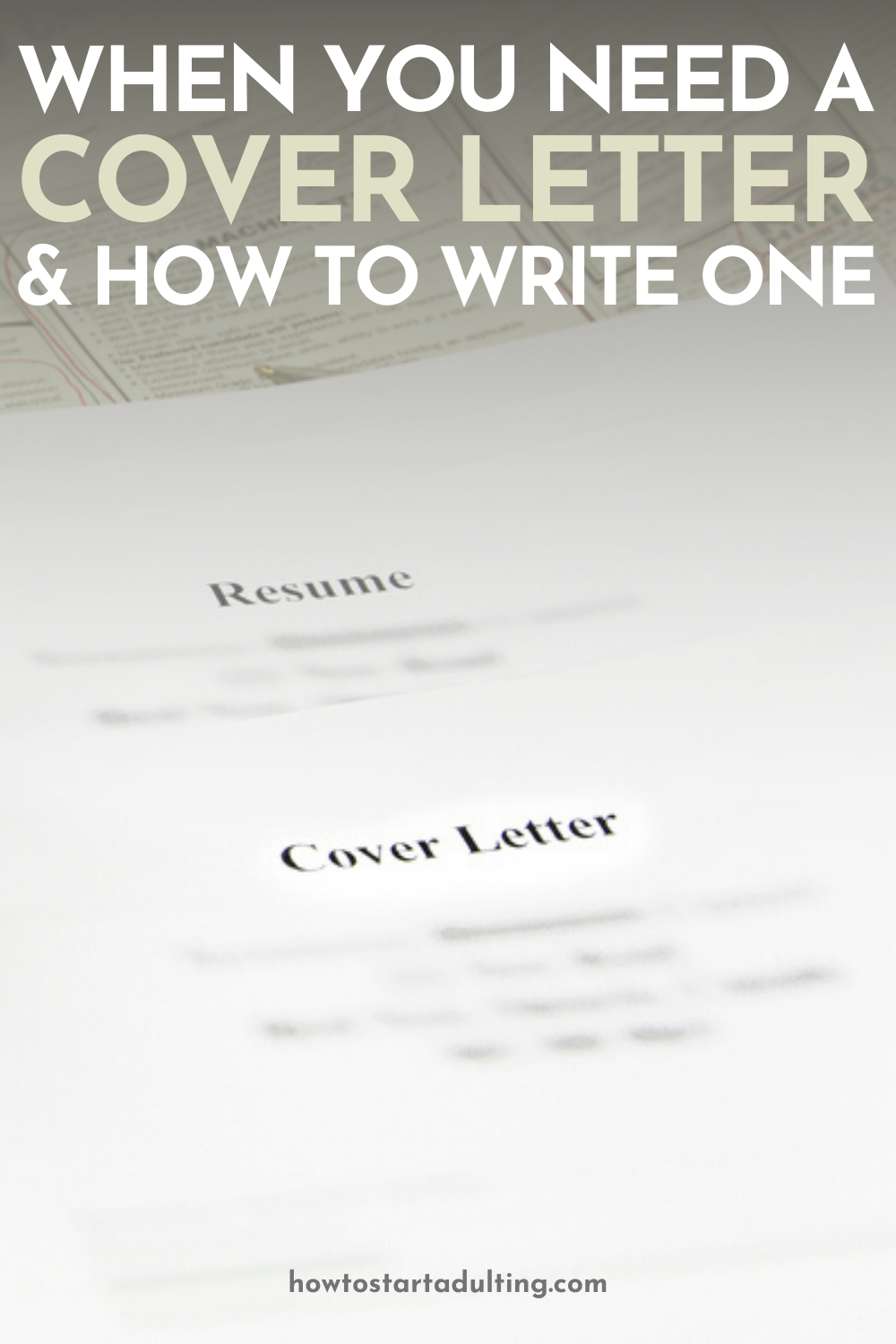 Here's When You Need A Cover Letter (And How To Write One) #jobtips #jobsearch #careertips #careeradvice #coverletter #resumetips