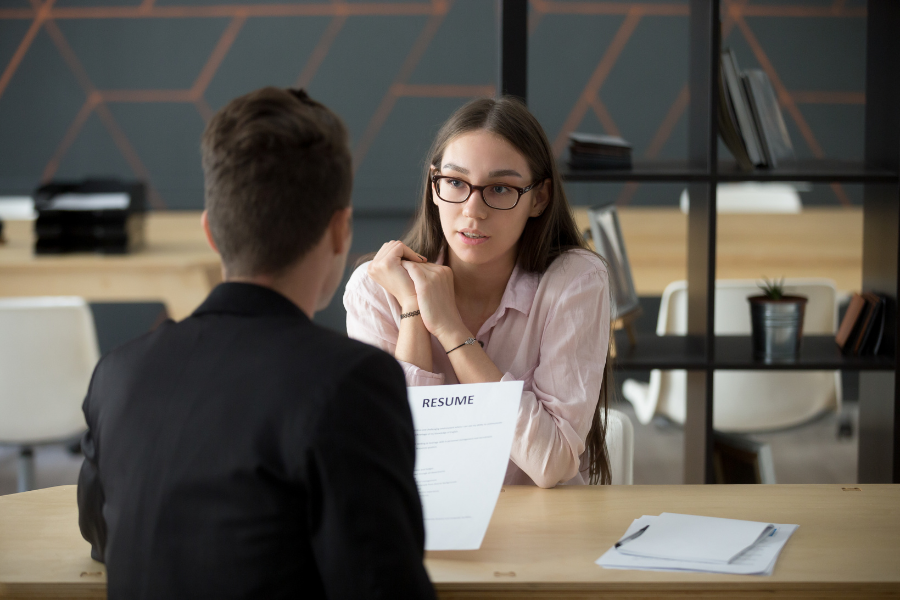 tips for being nervous during interviews
