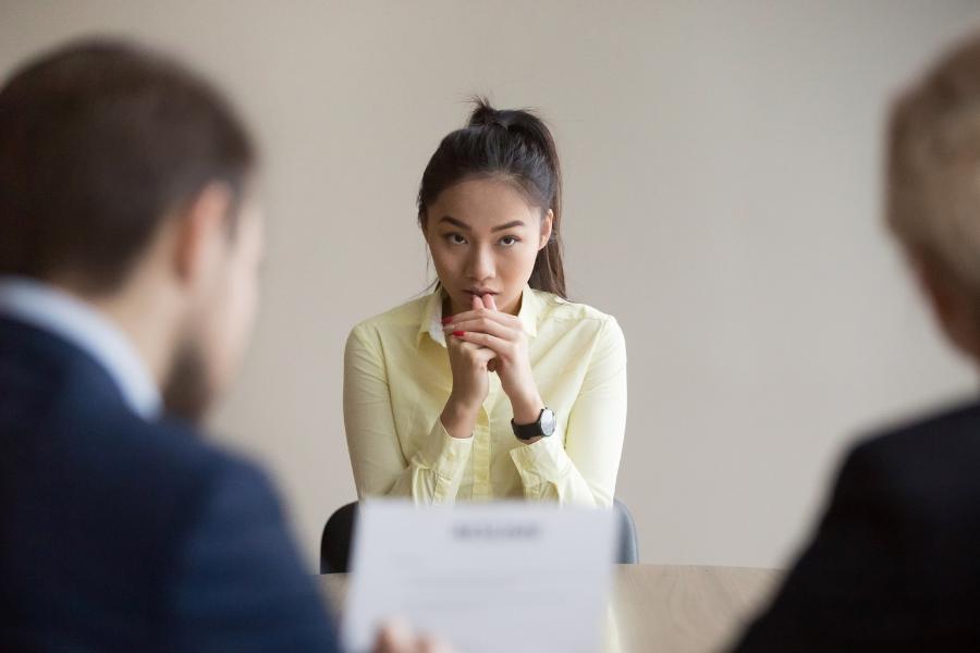 nervous for job interview tips
